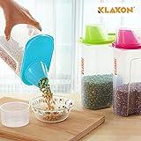 Klaxon Plastic Storage Jars, 3-Piece, Multicolour