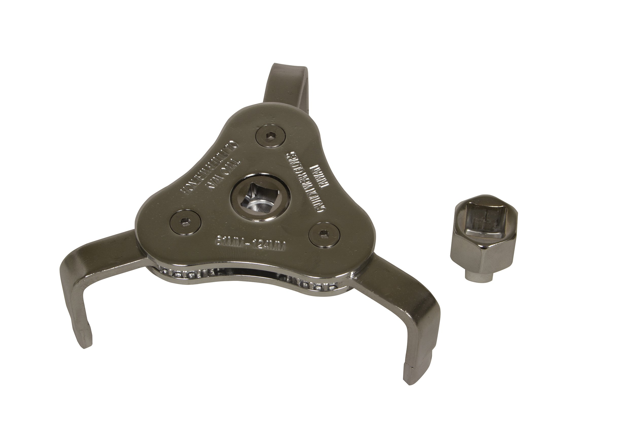 Lisle 63830 61-124mm 3 Jaw Wrench & Adapter