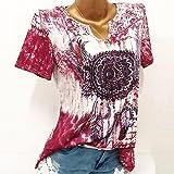 TnaIolral Women Blouse Windbell Print V-Neck