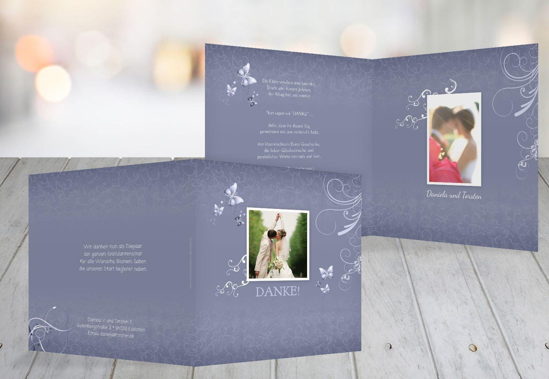 Kartenparadies Danksagung für Hochzeitsgeschenke Hochzeitsgeschenke Hochzeitsgeschenke Hochzeit Danke Butterfly, Hochwertige Danksagungskarte Hochzeitsglückwünsche Inklusive Umschläge   20 Karten - (Format  145x145 mm) Farbe  MattBlau B01NCYC0O2 | Roman  | Guter Markt  | a99456
