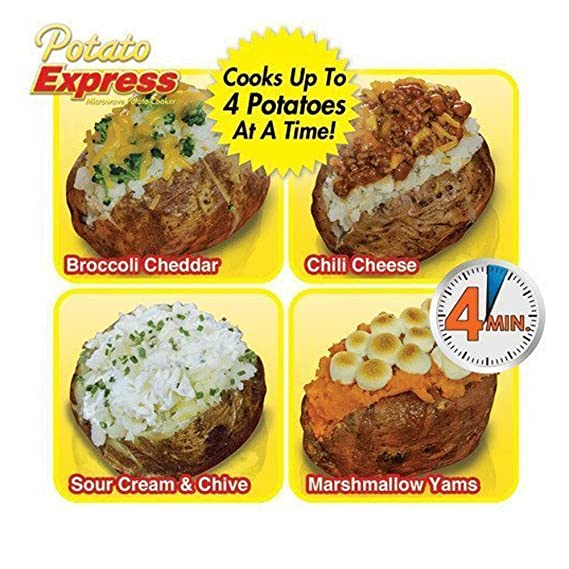Homi - Bolsa de Cocina para microondas (2 Unidades, Funda de Tela para Papas expresas), Universal