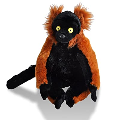 Wild Republic Red Ruffed Lemur Plush, Stuffed Animal, Plush Toy, Gifts for Kids, Cuddlekins12 Inches: Toys & Games