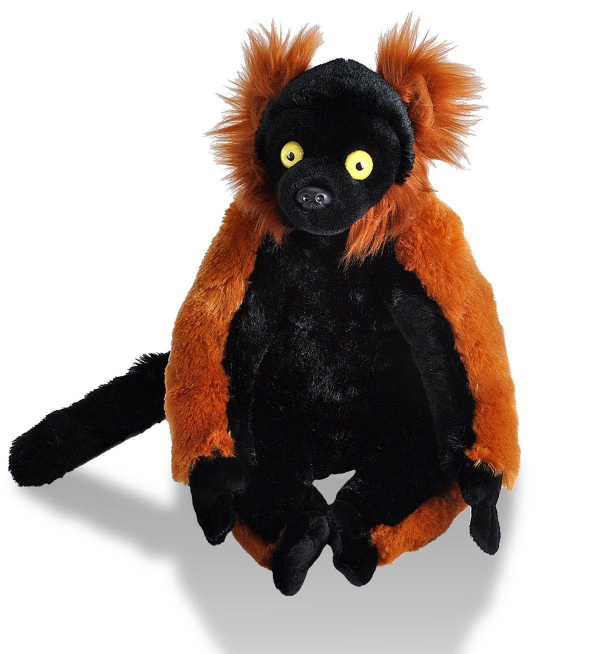 Wild Republic 10946 - Cuddlekins roter Vari Lemur, Plüschtier, 30 cm