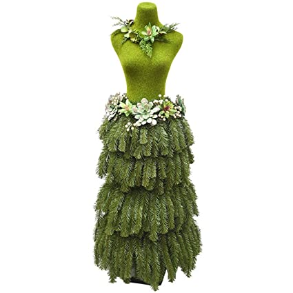 Dress Form Christmas Tree.Amazon Com At Home Unlit Succulent Dress Form Christmas