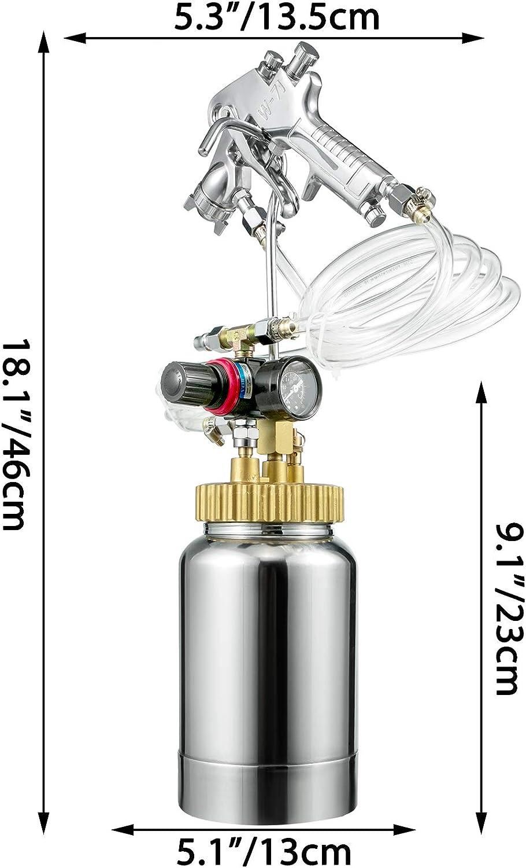 Pintura Negra para Recubrimientos a Base de Aceite con Manguera de 3 m para Autom/óviles M/áquina de Pulverizaci/ón de Tanque 1,8 mm VEVOR Pulverizador de Pintura de Alta Presi/ón de 2 L 3 kg