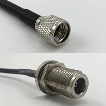 6 feet RG142 N Male Angle to N Male Pigtail Jumper RF coaxial Cable 50ohm Quick USA Shipping