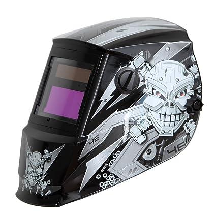 Antros ah6 - 260-6213 energía Solar Auto careta de seguridad para soldar casco con visera AntFi X60-2 Extra anchos para hombre de pantalla 4/5-9/9,13 con ...
