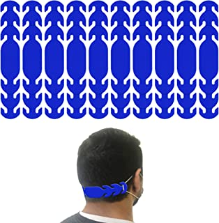product image for Ear Strap Extender for Masks with 3 Slots to Fit All (Made in USA) Color Options (10 Pieces) (Blue)