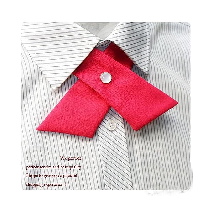 3ea0becfe4bf6 URSFUR Coréens Garçons Filles Cravate Uniforme Scolaire Nœud Papillon  Croisée Réglables Fête bordeaux: Amazon.fr: Vêtements et accessoires