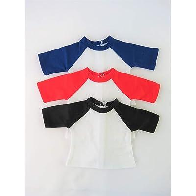 American Fashion World Set of Three Ragland Baseball Shirts Made for 18-inch Dolls: Toys & Games