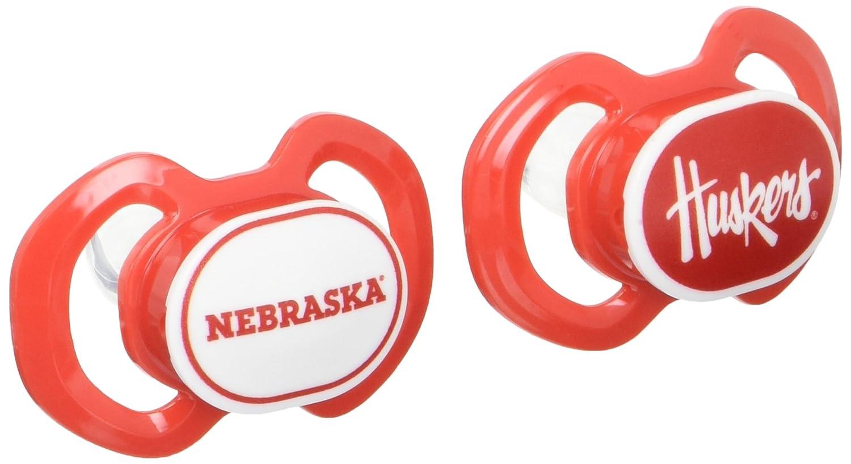 Baby Fanatic 2 Piece Pacifier Set,University of Nebraska Cornhuskers