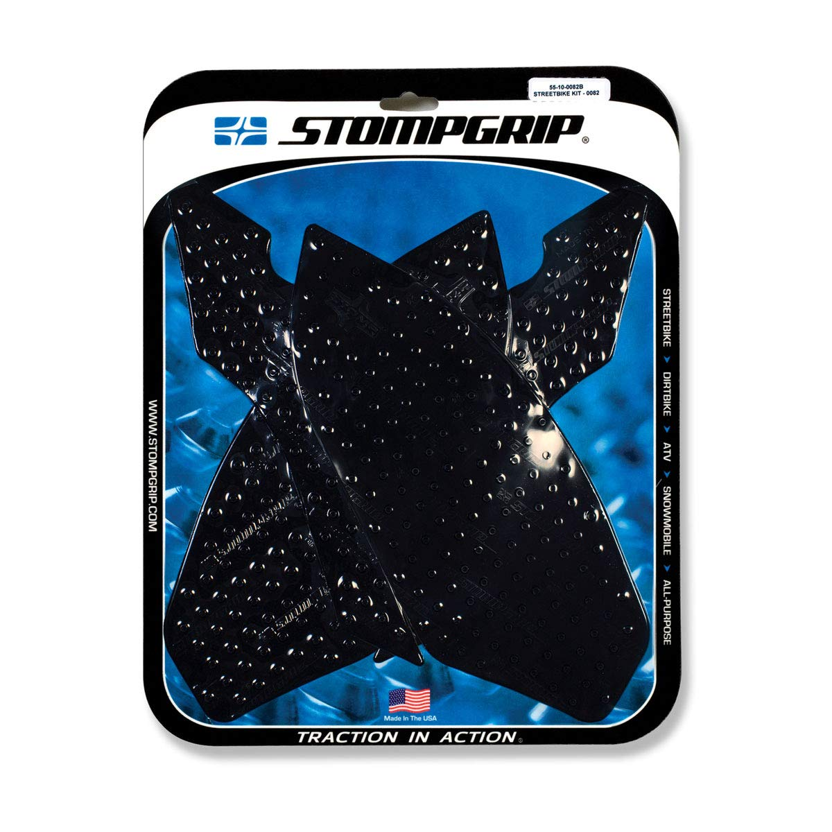 10-14 BMW S1000RR: Stomp Grip Traction Pads (BLACK)