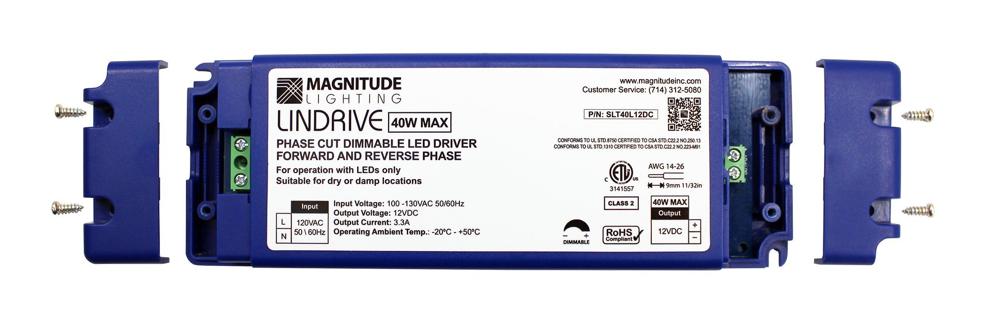 LED Driver - LINDRIVE - Magnitude 40W 12V LED Dimmable Transformer SLT40L12DC from Inspired LED Electronic Series by Inspired LED (Image #2)