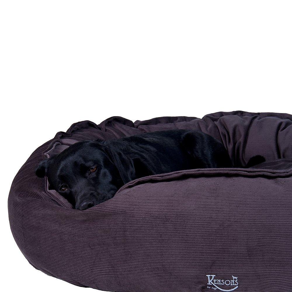 Hundebett braun-grau/irish taupe Cord-Stoff/100% Baumwolle nachfüllbar | Größe L: 120 x 100 cm | abnehmbarer Bezug, Hundebett waschbar bei 40°C, exklusive Füllung, Hundekorb Hunde-Liegeplatz Hundesofa, kuschelig