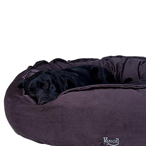 Perros de cama marrón gris/Irish taupe Cord de plástico/100% algodón rellenable