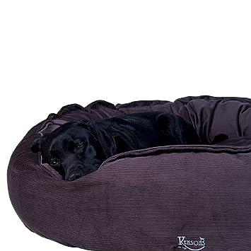 Perros de cama marrón gris/Irish taupe Cord de plástico/100% algodón rellenable, ...