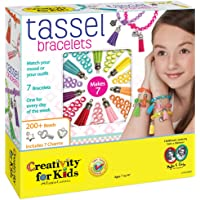 Creativity For Kids Playset Pulseras con Flecos de Imitación Gamuza