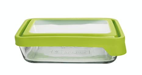 Anchor Hocking 6 Cup Rectangular Food Storage Containers With Green  TrueSeal Lids, Set Of