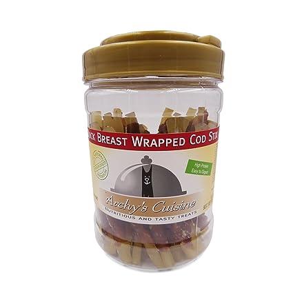 Premium Dog Treats Training Snacks Healthy Chews Duck Wrapped Cod Strips 340g Archys Cuisine