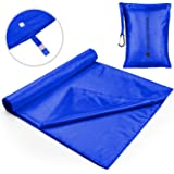 The Friendly Swede Sleeping Bag Liner - Travel and Camping Sheet, Pocket-Size, Ultra Lightweight, Silky Smooth Cool or…