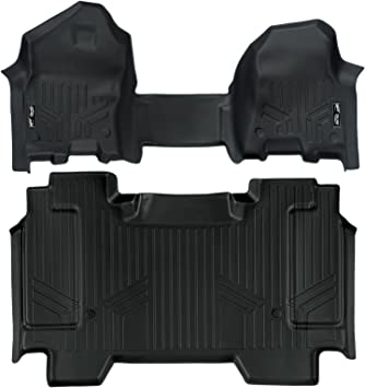 MAX LINER B0374 Custom Fit Floor Mats 2nd Row Liner Black for 2019 Ram 1500 Crew Cab with Rear Underseat Storage Box