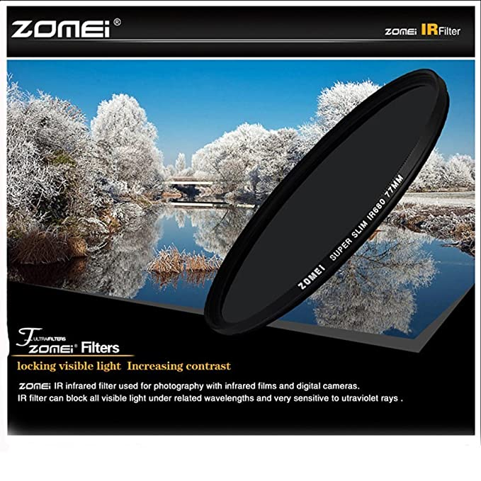 ZOMEI 30mm IR Filter 850NM X-Ray Infrared Filter for Canon Nikon Sony DSLR Lens