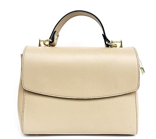 029137c1f4 Superflybags Borsa bauletto Donna in vera pelle saffiano modello Ester Made  in Italy: Amazon.it: Scarpe e borse