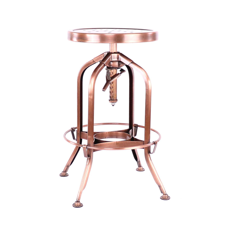 Design Lab MN LS-9200-COP Toledo Barstools, Vintage Copper