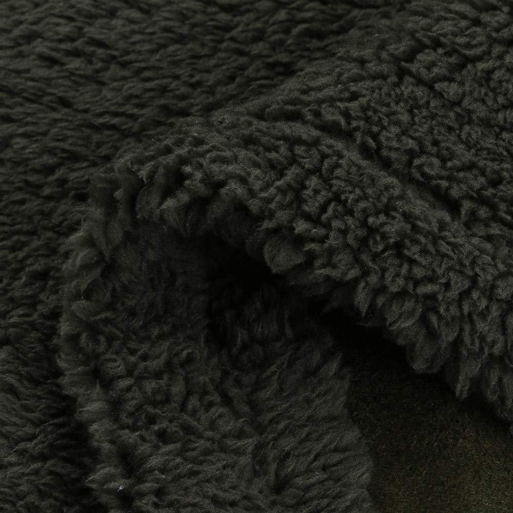 FTXJ Fashion Men Loose Warm Plush Cardigan Long Furry Double-Sided Coat Tops Blouses by FTXJ_mens coats (Image #9)