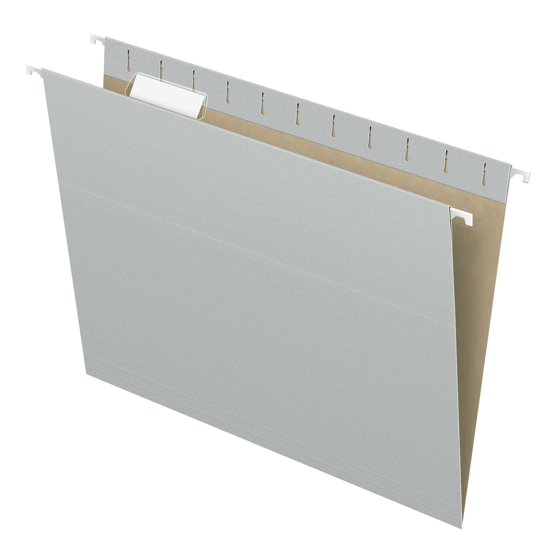 Pendaflex Recycled Hanging Folders, Letter Size, Gray, 1/5 Cut, 25/BX (81604) by Pendaflex