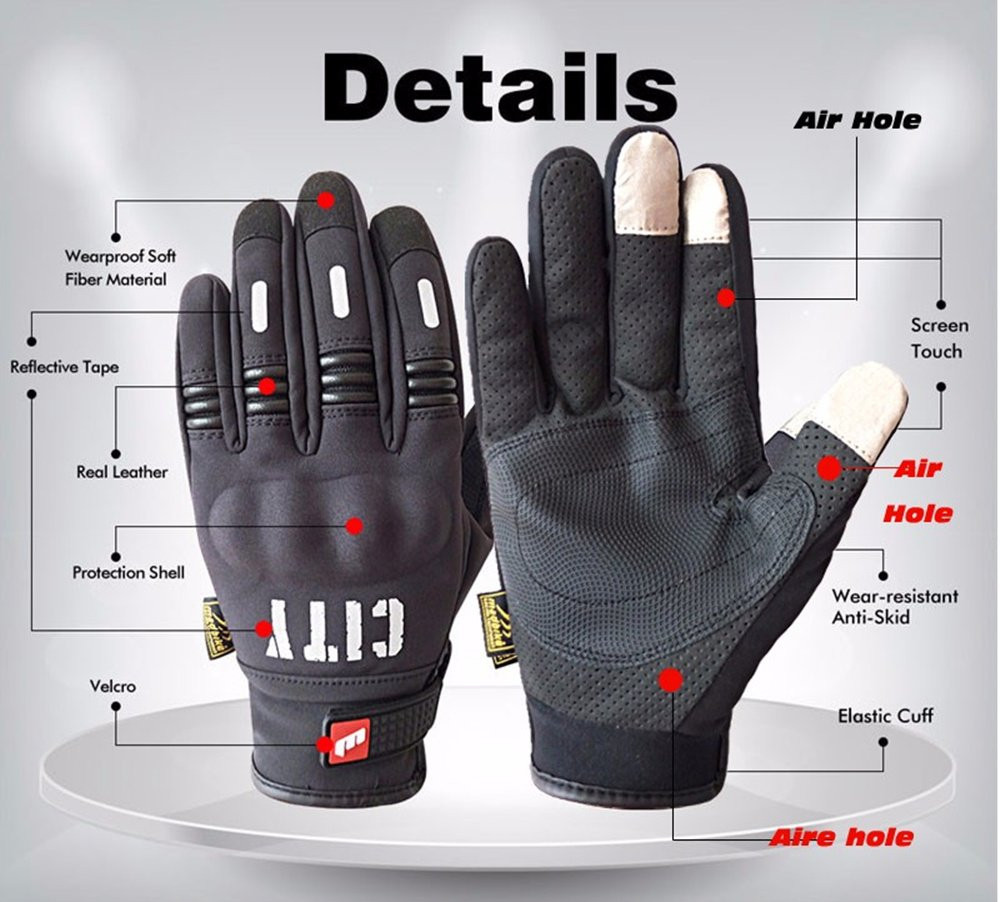Madbike Stealth Hard Knuckle Motorcycle Gloves Touch Screen Motorbike Powersports Racing Tactical Paintball Black (L) by MADBIKE RACING EQUIPMENT (Image #6)