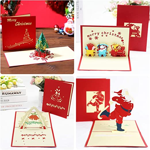 24pcs Tarjetas de Navidad,Tarjetas de felicitaci/ón navide/ñas,Tarjetas de regalos,Navidad Felicitaci/ón Tarjeta,Creativas Christmas Greeting Card,Tarjetas de Felicitaci/ón para Navidad B