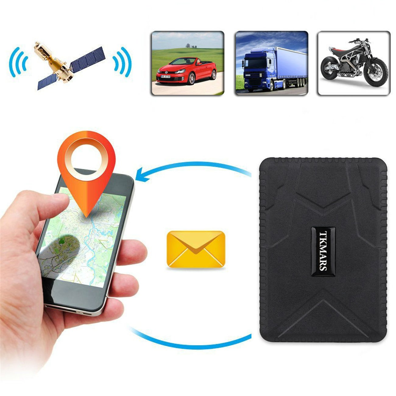 Kostenlose APP f/ür Smartphone Hangang GPS-Tracker f/ür Fahrzeuge GPS Locator Wasserdichter Echtzeit-Diebstahlsicherungs-Tracker 3 Monate Lang Standby mit starkem Magnet Keine Installation