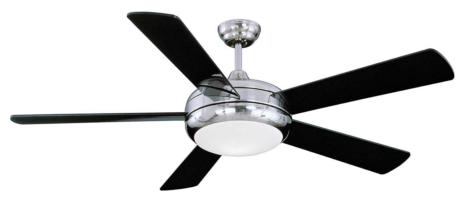 Litex E Tit52sch5lkrc Titan Collection 52 Inch Ceiling Fan With Craftsman 5 Wood Blade Wiring Remote Control Five Reversible White Pine Black Blades And Single Light Kit Opal Glass