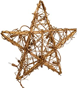 Kurt Adler 20-Light Gold Rattan Star