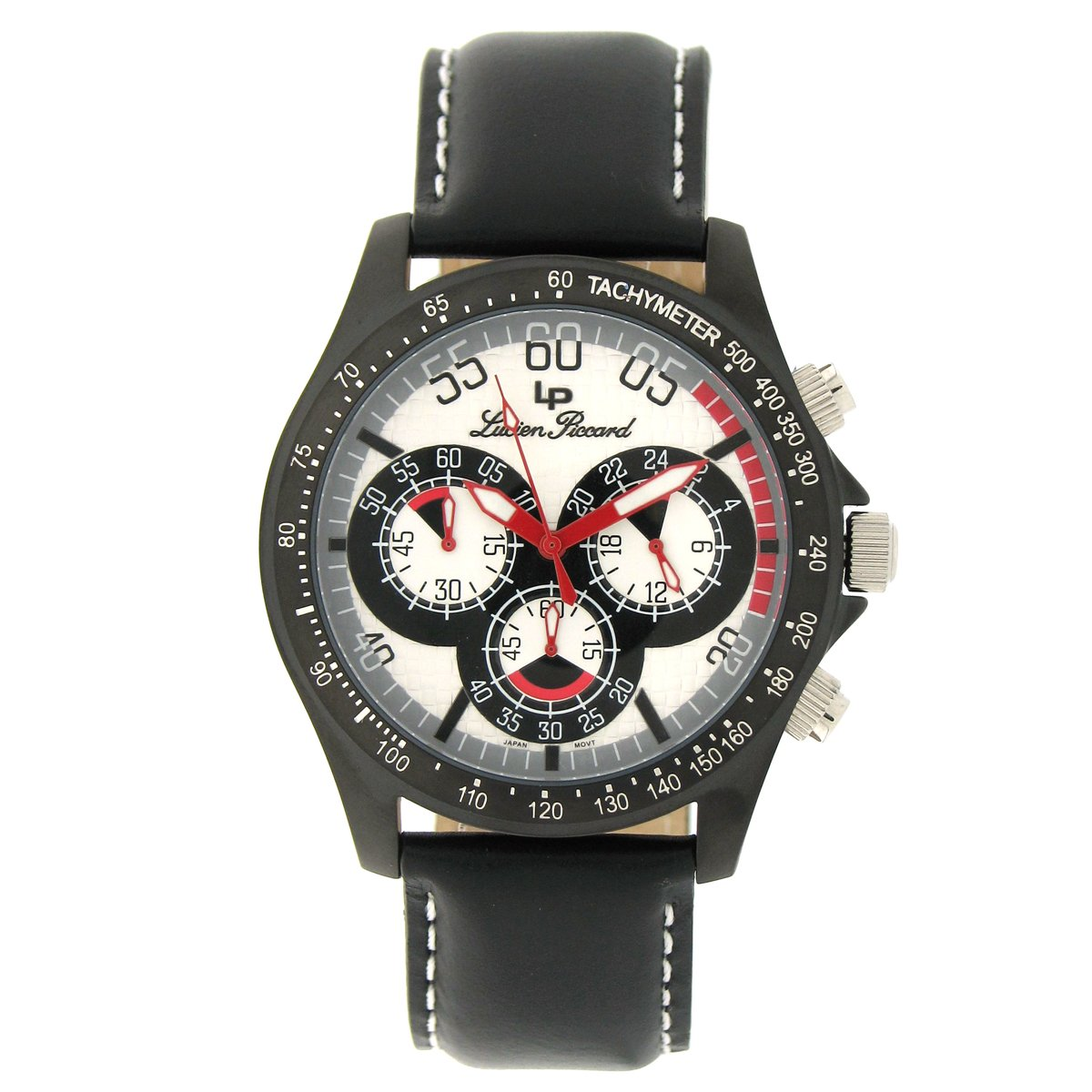 Amazon.com: Lucien Piccard Men's 26959SL Black Ion-Plated Chronograph Watch:  Watches