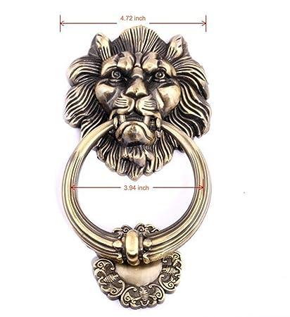 UniDecor Large Antique Lion Door Knocker Lion Head