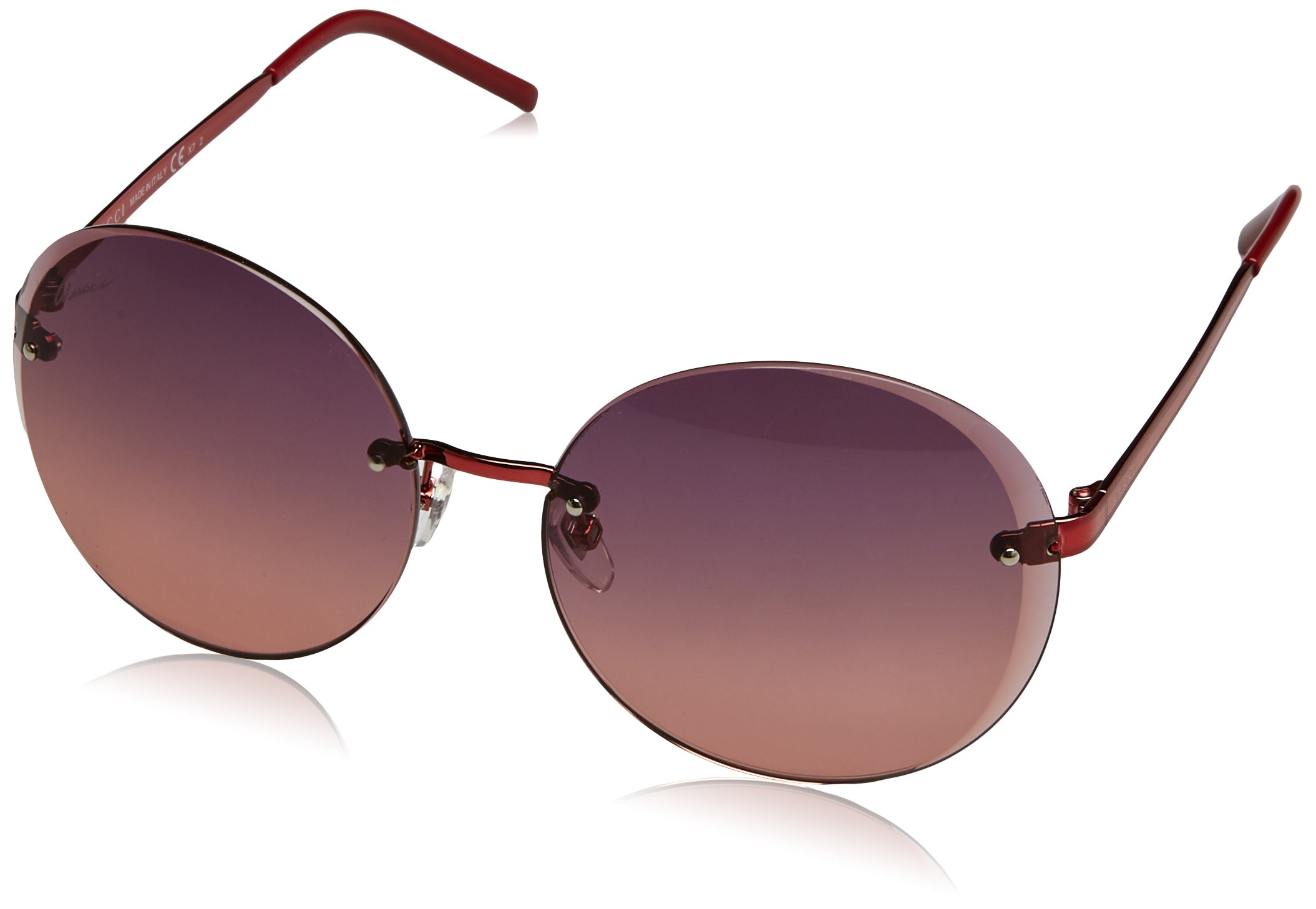 Gucci GG4247/S Sunglasses-0OMR Shiny Red (PC Red Gradient Lens)-59mm