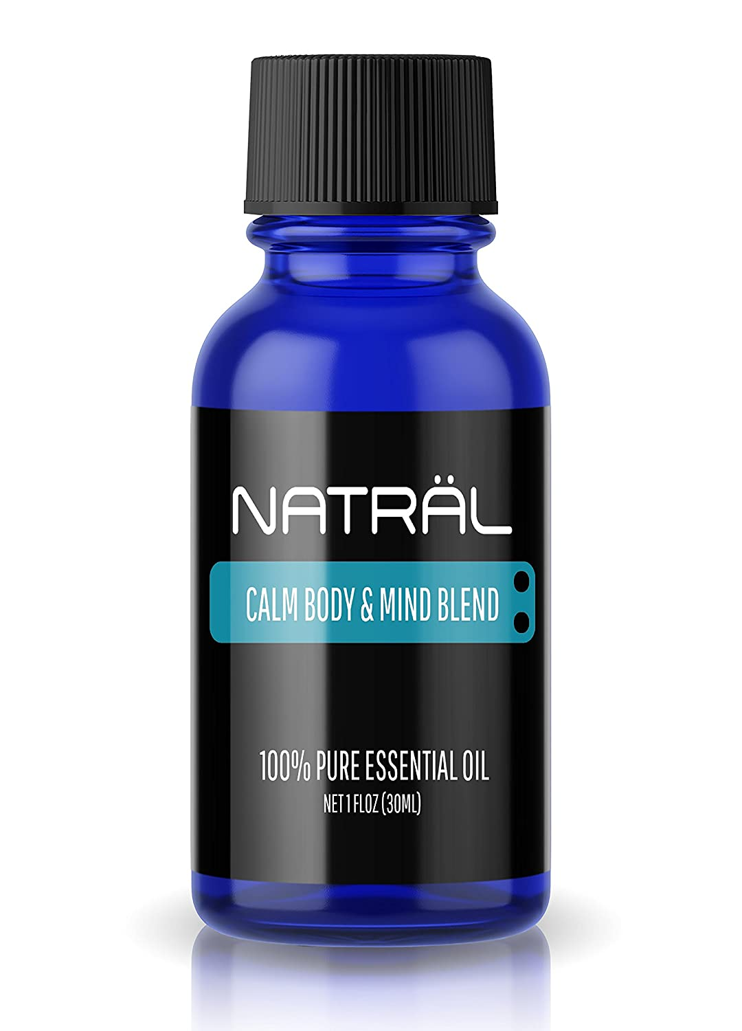 NATRÄL Calm Body & Mind Blend, 100% Pure and Natural Essential Oil, Large 1 Ounce Bottle