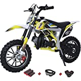 X-PRO Bolt 50cc Dirt Bike Gas Dirt Bike Kids Dirt Bikes Pit Bikes Youth Dirt Pitbike with Gloves, Goggle and Handgrip,Yellow