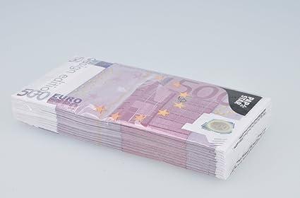 Servilletas de papel en look de 500/Euro como Party Gag o de atracci/ón en el comedor