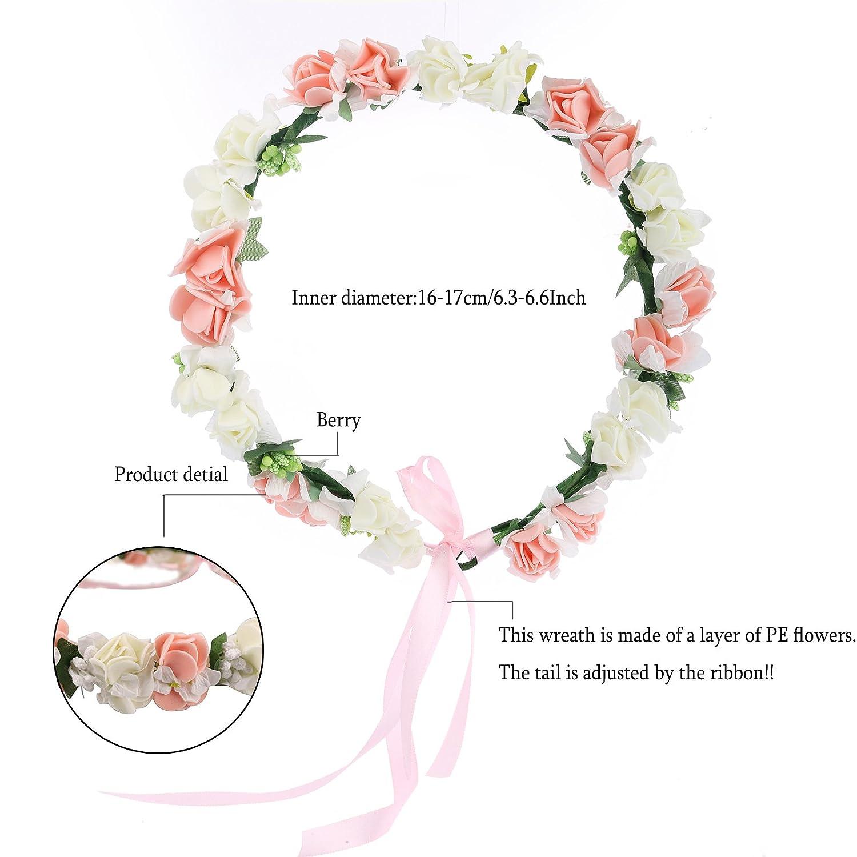 Amazon Awaytr Flower Wreath Headband Floral Crown Garland Halo