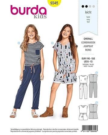 Burda Patron Kids 9345 Kombination, Weiß, 6-13 Jahre: Amazon.de ...