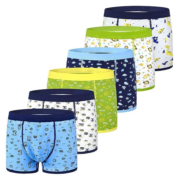 iVENUS 6 Pairs Boys Kids Underwear Boxers Shorts Elasticated Underpants Cotton Children Ages 1-11
