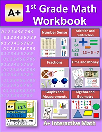 Amazon.com: 1st Grade Math Workbook (PDF) on CD (Worksheets, Tests ...