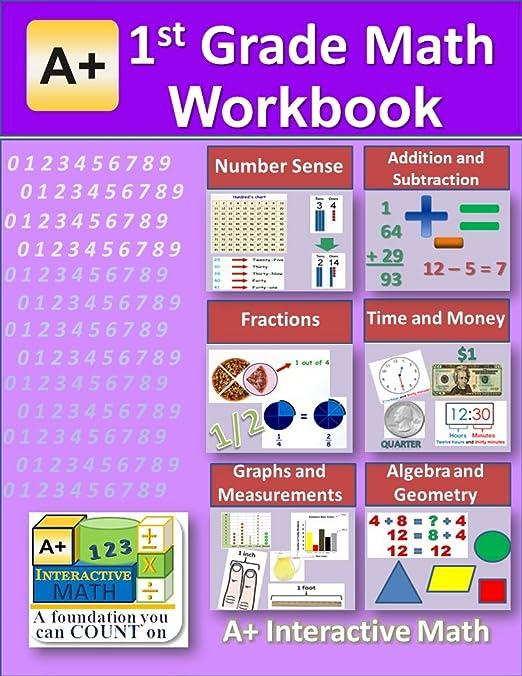 Amazon.com: 1st Grade Math Workbook (PDF) on CD (Worksheets, Tests ...