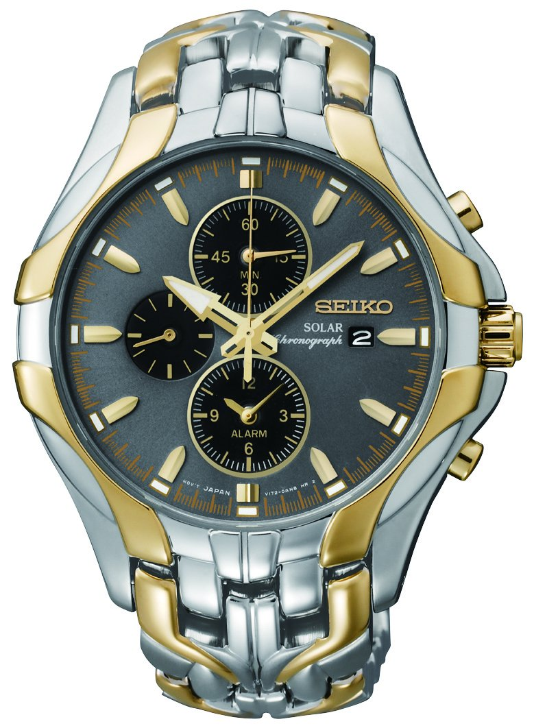 Seiko Men's SSC138 ''Excelsior'' Two-Tone Stainless Steel Solar Watch