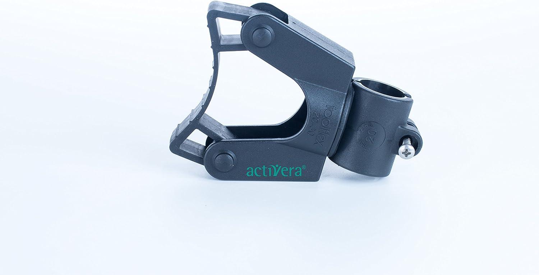 Soporte para bastón para andador y silla de ruedas, fijación a tubos de 20 mm, para bastones con diámetro de 20-30 mm