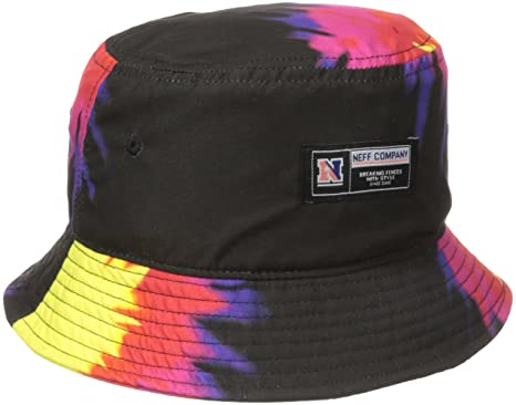 1949bc6f Amazon.com: neff Men's Tie Dye Bucket Hat, Black, One Size: Clothing