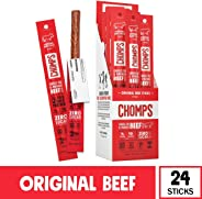 CHOMPS Grass Fed Original Beef Jerky Snack Sticks, Keto, Paleo, Whole30 Approved, Non-GMO, Gluten Free, Sugar Free, High Prot